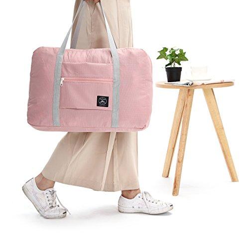KING DO WAY Faltbares Design Reisetaschen Reisetaschenset Handgepäck superleicht für Extra Gepäck, Aufbewahrung Alltagsgebrauchsgegenstände 45x35x20cm aus Polyester 4 Farbe Wahlbar Hellblau Weinrot