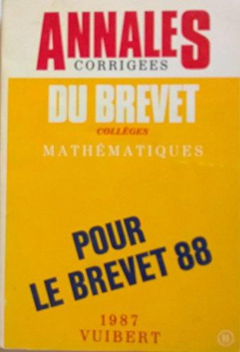 ANNALES BREVET 11 MATHS par Collectif (Poche)