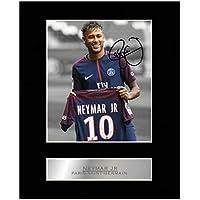 Neymar Jr Signiert Foto Display Paris Saint-Germain FC