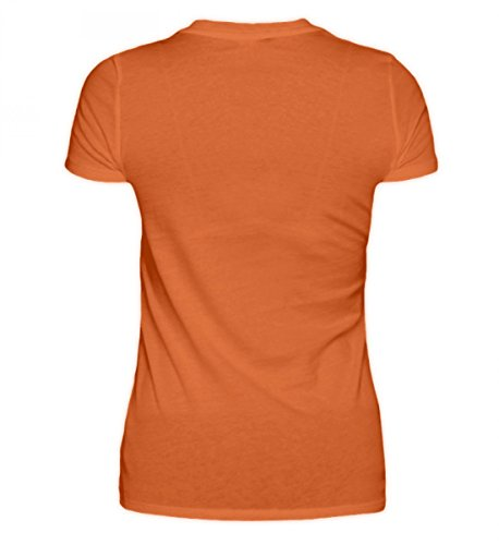 Hochwertiges Damen Premiumshirt - Kroatien Shirt/Herzschlag Kroatien Flagge/Hrvatska Dunkelorange