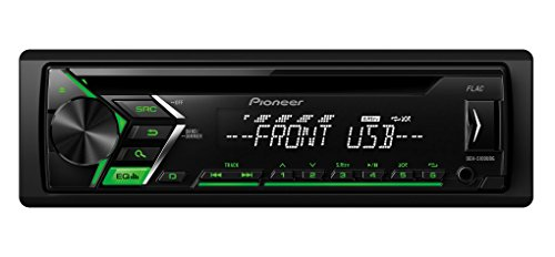 Pioneer DEH-S100UBG Autoradio USB CD Receiver, Kfz Radio mit Front AUX-In, Wiedergabe von MP3 WMA WAV FLAC über MOS-FET 4X 50W, High Level Car HiFi schwarz (Mp3 Auto Radio Cd)