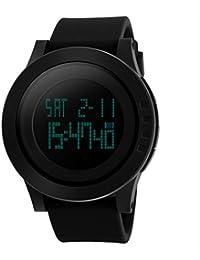 Design Simple Hommes LED étanche électronique numérique multifonction montre poignet sport militaire montre à quartz