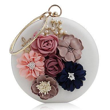 pwne L. In West Woman Fashion Luxus High-Grade Bead Blume Abend Tasche White