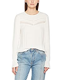 ONLY Damen Bluse Onlhanna L/S Top Box Wvn