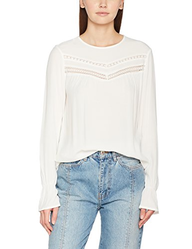Only Onlhanna L/S Top Box Wvn, Camicia Donna Bianco (Cloud Dancer)