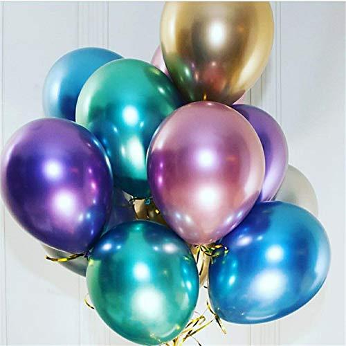 Großhandel 50 stücke 12 zoll 3,5g Chrom gold ballon blinkende metall ballon Starke Pearly Metall Hochzeit Dekoration Metallic Luftballons (Großhandel Blinkende Spielzeug)