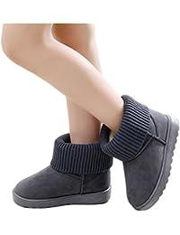 Paragon Niñas Niños Botas de Nieve Mujer Zapatillas de Invierno Totalmente Alineada Botas Caliente