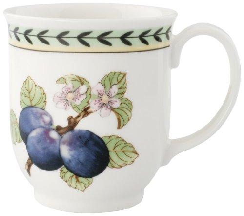Villeroy & Boch Charm & Breakfast French Garden Kaffeebecher, 420 ml, Höhe: 9 cm, Premium Porzellan, Weiß/Bunt -