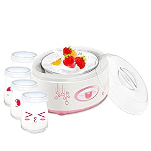 MNII Creatore di Yogurt Digitale Maker Pure Yogurt 1L Rivestimento in acciaio inox Con 4 barattoli di yogurt. | Yogurt da 24 ore - Yogurt naturale 100% naturale Controllo completamente automatico