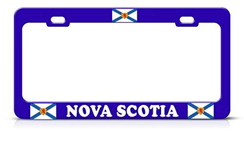 Kanadische Flagge NOVA Scotia blau Metall Kennzeichenrahmen Kanada Tag Bordüre Perfekt für Herren Frauen Auto Garadge Dekor - Gorilla-automotive-produkte