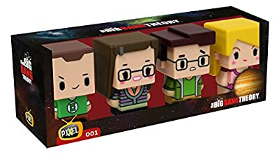 The Big Bang Theory - Pack 4 trading figurines Pixel 7 cm