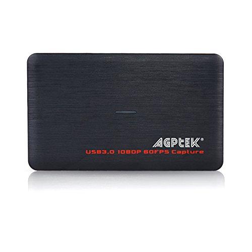 AGPtEK Tarjeta USB 3.0 HDMI de Captura de Video HD Dispositivo/Caja Grabadora de Juegos 1080P 60FPS Transmisión en Vivo para Sistemas Windows Linux Os X