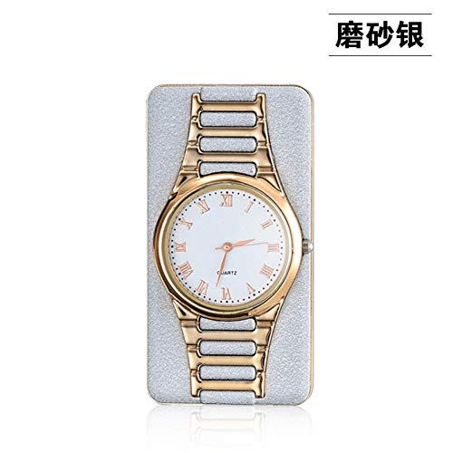 Gexideshijimo Feuerzeug Uhr Für Männer Business Rechteck Flammenlose Zigarettenanzünder Uhren USB Lade Quarz Armbanduhren