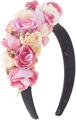 Vintage GRAYCE Floral FLOWERS Blumen ROSES Boho - Haarreif Rockabilly