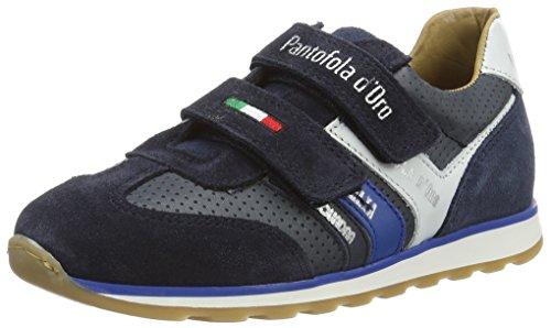 Pantofola d'Oro Jungen Canino Ragazzi Velcro Low Top Blau (Dress Blues)