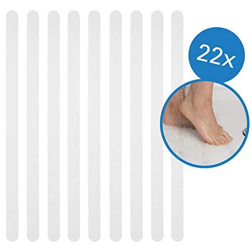 BAMONDO Anti Rutsch Streifen für mehr Sicherheit 22 Stück - Antirutsch Selbstklebend & Transparent für Bad, Dusche und Treppen. Rutschschutz Bad, Antirutsch Dusche, Antirutsch Badewanne.