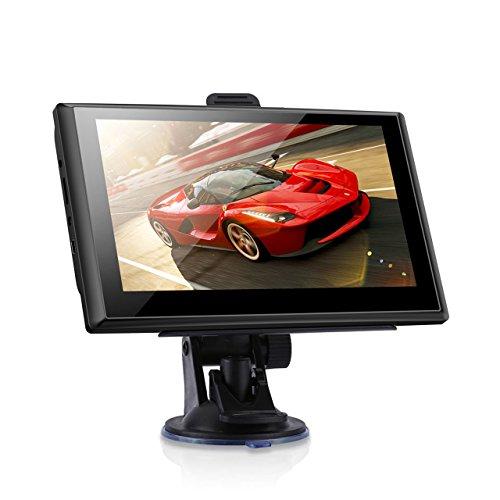"""7"""" GPS Automatique de Voiture Moto 8GB, NickSea Appareil de Navigation Écran Tactile, Intégrer le Système des Instructions Vocales, Système de Navigation Avec Multi-langues Gratuites Cartes"""