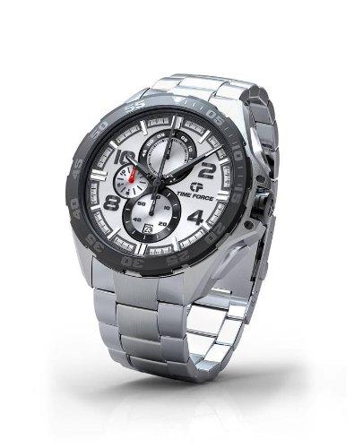 Time Force - TF3328M02M - Montre Homme - Quartz Analogique - Cadran Argent - Bracelet Acier Argent