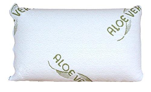 TOP-AKTIONSPREIS: 1 x kleines Aloe Vera Schlafkissen/Nackenstützkissen - 40x24x10 cm - aus viskoelastischem Gelschaum
