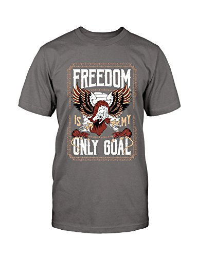 Freedom T-Shirt Eagle Adler Neu Fun Funny Retro Vintage Old School Rockabilly Grau