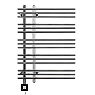 Heated Towel Rail, Chrome Straight, Incl. Heating Element, Fix and Delivered - Chrome, 800h x 500b