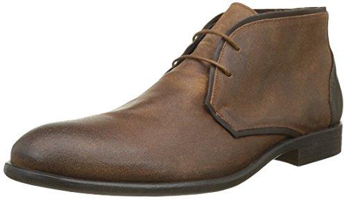 Hexagone Oscar, Desert Boots Homme Marron (Cr Vlours Camel/V Rustique Tdm)