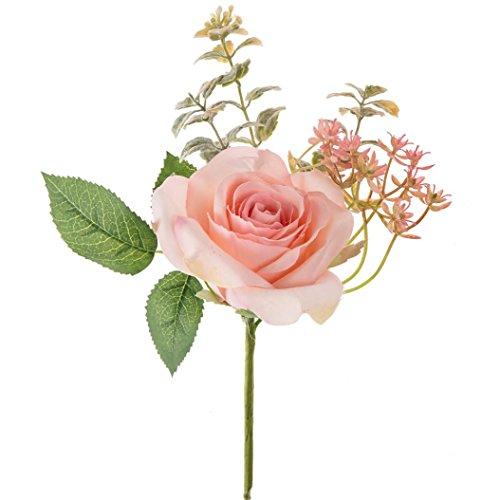 Rosen, Huihong künstliche gefälschte Rosen Kunststoff Blume Brautstrauß Hochzeit Party Wohnkultur (Rosa)