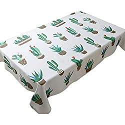 JUNGEN Mantel Estampado con Patrón de Flamingo y Cactus Mantel Decorativo Cuadrado Mantel de Tela del Mesa de Comedor Estilo nórdico de Moda Size 60x60cm (Verde 5)