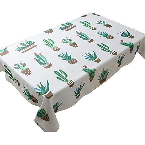 JUNGEN Mantel Estampado Patrón Flamingo Cactus Mantel