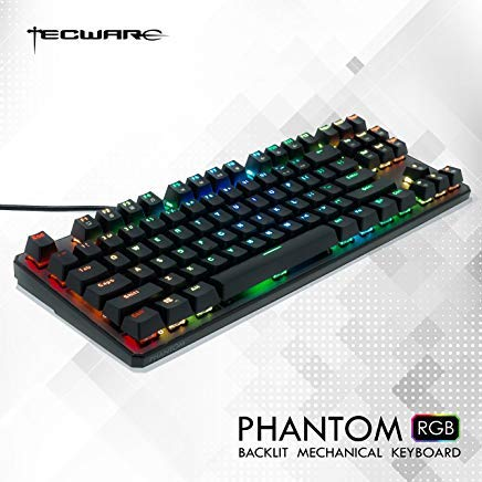 Tecware Phantom - Mechanische Tastatur mit 87 Tasten, RGB LED Outemu Brown 87
