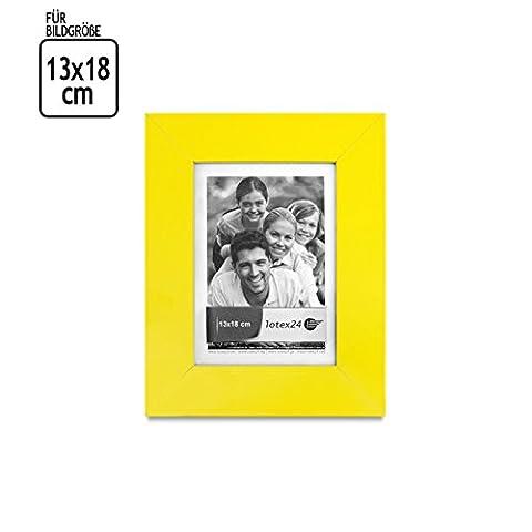 Cadre photo matt jaune pour taille de l'image 13 x 18 Pour chaque intérieur