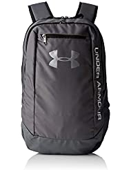 Under Armour UA Hustle Backpack Ldwr Mochila, Hombre, Gris Graphite/Silver 040, Talla única