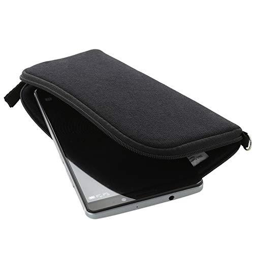XiRRiX Handyhülle mit Handschlaufe 7.2 - universal Größe 3XL für Huawei Honor 7X Mate 20 Pro/Lite/View 10 20 - Handytasche schwarz