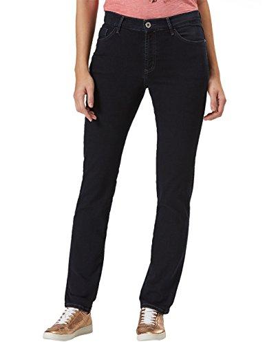 Pioneer Damen Kate Straight Jeans, Blau (Blue Black Dark Stone 04), 38 (Herstellergröße: 3830) - Regular Fit Stone Washed Jean