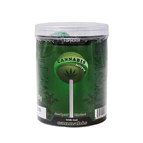 *Euphoria Cannabis Lollipops (10 Stück) | Kugel Lutscher – Lolly mit Hanf ätherisches Öl (Hanf, Regular)*