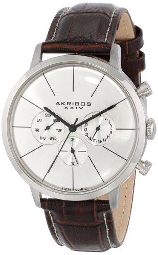 Akribos XXIV Reloj con movimiento cuarzo suizo AK647BR Marrón 42 mm