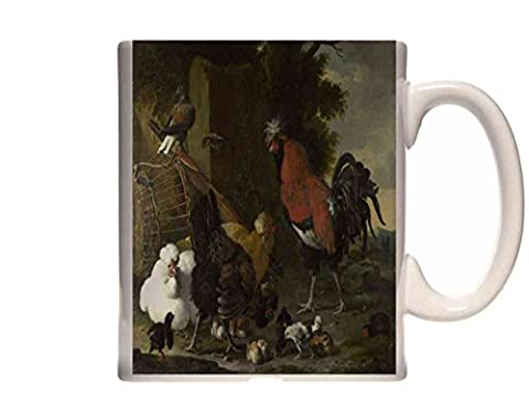 Mug Melchior d'Hondecoeter A Cock, Hens and Chicks Ceramic Cup Gift Box