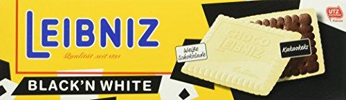Preisvergleich Produktbild Leibniz Choco Black'n White 125 g,  12er Pack — Kakao-Keks mit weißer Schokolade — Schokokekse in der Faltschachtel — Kakaokekse mit extra Schokolade in der Vorrats-Box (12 x 125 g)