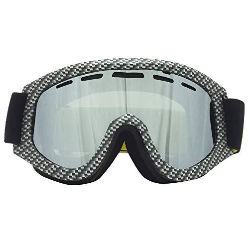 JVSISM Ski Brille Winter Schnee Sport Snowboard Mit Anti-Nebel Doppel Linse Ski Maske Brille Skifahren M?nner Frauen Schnee Snowboard Brillen Silber