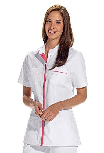 clinicfashion 10112059 Kurzkasack weiß für Damen, Mischgewebe, Größe 36