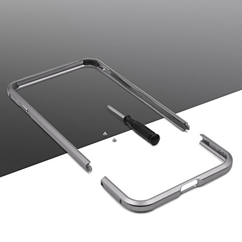 URCOVER® Bumper Anti-choc Aluminium | Apple iPhone 7 Plus | Alu Metal in Gris | Coque de Protection Mince et Léger Pare-choc Carcasse Case Cover Étui Portable Gris