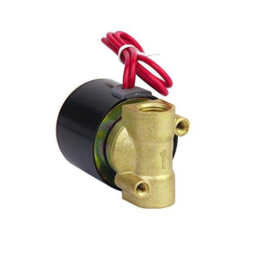 UEETEK 1/4 Zoll AC 220V Elektro Magnetventil für Luft-Wasser
