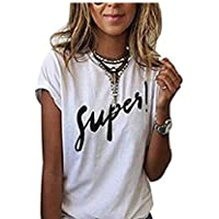 SSforiesun Bedrucktes T-Shirt Einfaches T-Shirt des Sommers