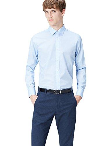 Find., regular fit formal, uomo, camicia formale, blu (blue 200), large