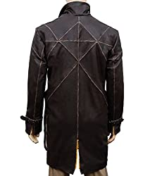 ZARAR Men's Brown Real Genuine Leather Trench Coat WD Jacket Costume With Belt