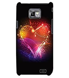 ColourCraft Beautiful Heart Design Back Case Cover for SAMSUNG GALAXY S2 I9100