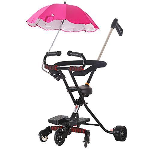 Baby carriage Leichter Faltbarer Kinderwagen - Kinderwagen Carrycot Travel System 5-Rad-Hochlandschaftskinderwagen, 96 cm (Zusammenklappbar: 78 * 52 cm)