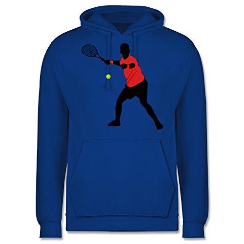 Tennis - Tennis Vorhand - Männer Premium Kapuzenpullover / Hoodie Royalblau