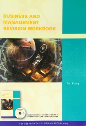 Business and Management Workbook for the International Baccalalureate by Paul Hoang (2009-10-10)