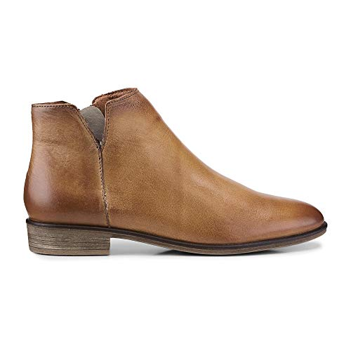 Cox Damen Damen Klassik-Stiefelette aus Leder, Ankle-Boots in Braun mit rutschhemmender Laufsohle braun Glattleder 41